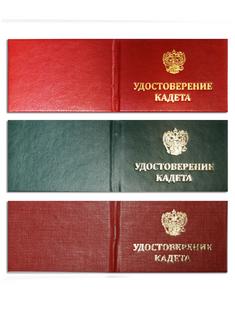 Удостоверение кадета с книжкой